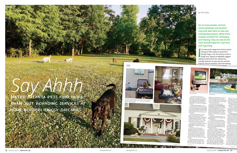 Atlanta Pet Life Summer 2019 Article Pet Resorts