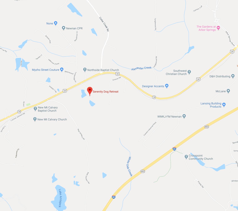 Serenity Dog Retreat Directions Google Map